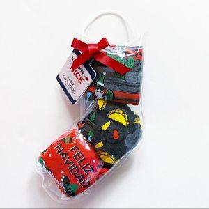 Naughty or Nice 3 Pairs Christmas Spanish Socks